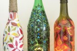 Up-cycled Glass Bottle (Painting)